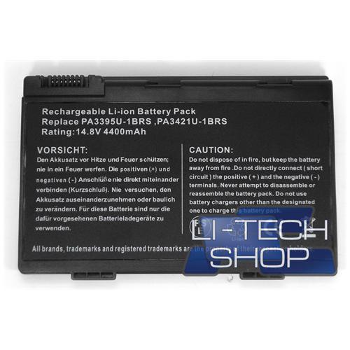 LI-TECH Batteria Notebook compatibile per TOSHIBA PA3395U-1BRS nero computer pila