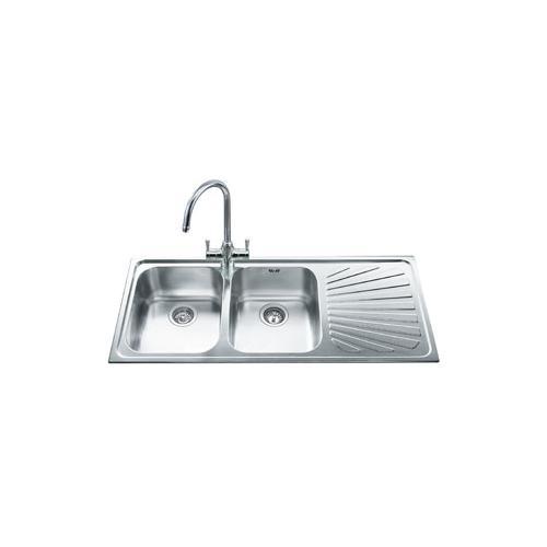SMEG - Lavello SP116D 2 Vasche Gocciolatoio a Destra Dimensioni ...