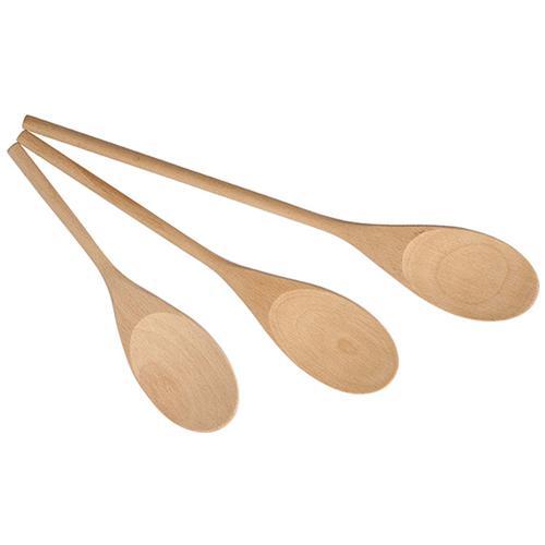 HOME Set 6 Confezioni 3 Cucchiai In Legno Cm20/25/30 Posate E Utensili Da Cucina