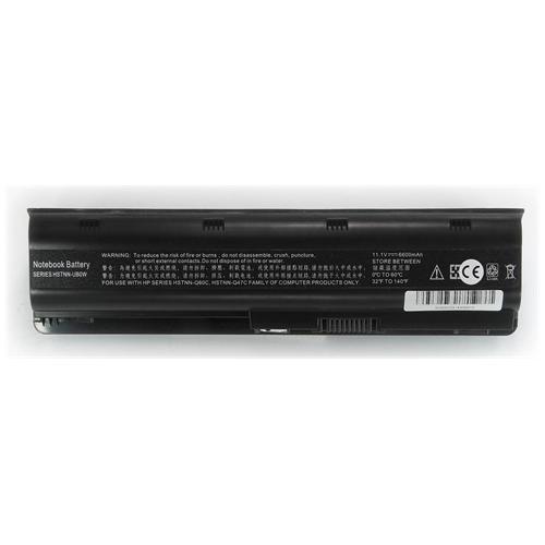 LI-TECH Batteria Notebook compatibile 9 celle per HP PAVILLION DV6-6136EG 6600mAh nero 73Wh 6.6Ah