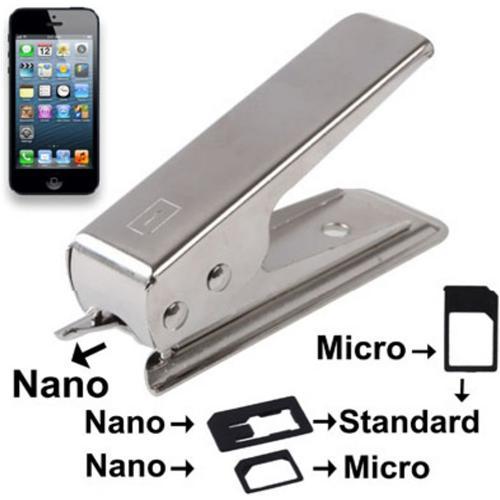 mobility gear Taglierina Sim Card A Nano Con Adattatore Micro Sim - Argento