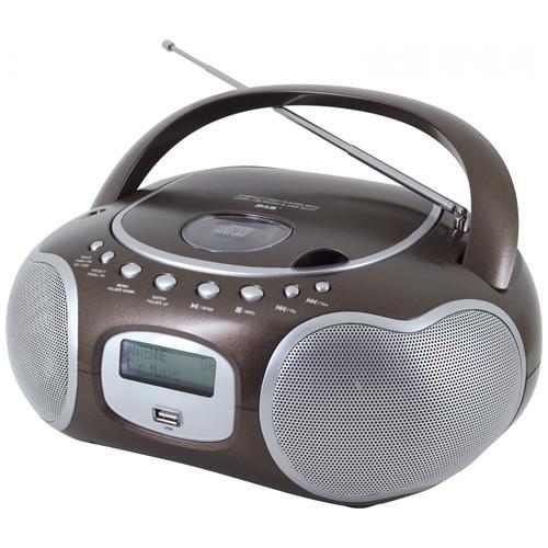 SOUNDMASTER SCD4200BR, DAB+, FM, Lettore, CD, CD-R, CD-RW, Programma, Ripeti, 6W, LCD