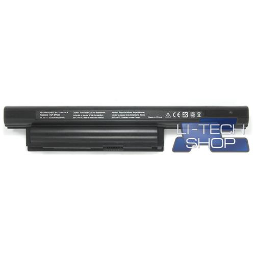 LI-TECH Batteria Notebook compatibile 6 celle 5200mAh per SONY VAIO VPC-EA25FGP 10.8V 11.1V 5.2Ah