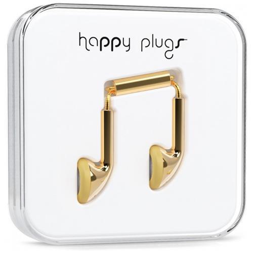 """HAPPY PLUGS Earbud Gold, Binaural, Oro, Interno orecchio, Cablato, 10 mW, 3.5 mm (1/8"""")"""