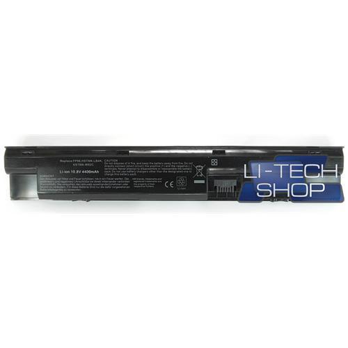 LI-TECH Batteria Notebook compatibile per HP COMPAQ 707616851 10.8V 11.1V nero