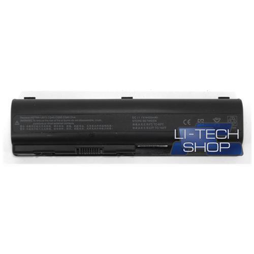 LI-TECH Batteria Notebook compatibile per HP COMPAQ PRESARIO CQ61-312EL 6 celle 4400mAh nero pila