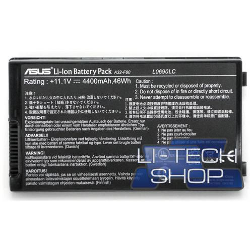 LI-TECH Batteria Notebook compatibile per ASUS F8SV-4P020C nero computer pila 48Wh 4.4Ah
