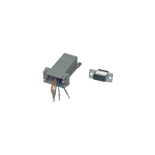 VALUELINE CMP-ADAPT-9M, D-Sub 9-pin (M) , RJ45 (F) , Maschio / femmina, Grigio, 6 cm, 1,7 cm