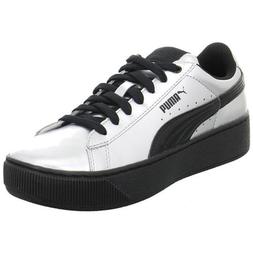 Puma Vikky Platform Metallic 36360902 argento scarpe basse