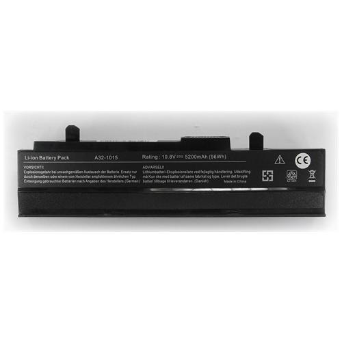 LI-TECH Batteria Notebook compatibile 5200mAh nero per ASUS EEEPC EEE PC EEPC 1215P-BLK072M 5.2Ah