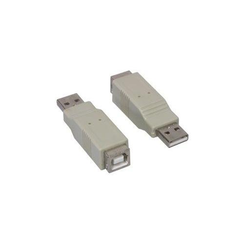 ALCASA USB A M / USB B F, USB A, USB B, Maschio / femmina, Grigio, Blister