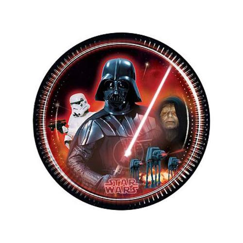 COMO GIOCHI Star Wars - Heroes And Villans - 8 Piatti 20 Cm