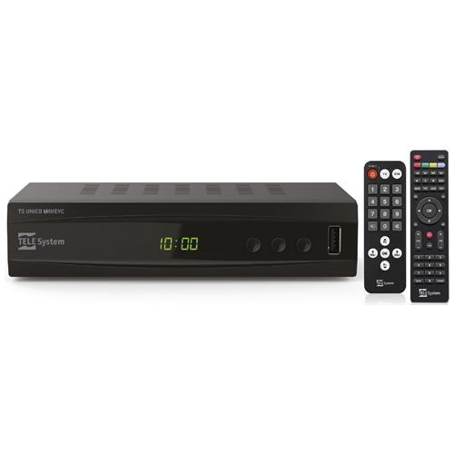 TELESYSTEM Ricevitore Digitale Terrestre TS UNICO DVB-T2 HEVC Porta USB