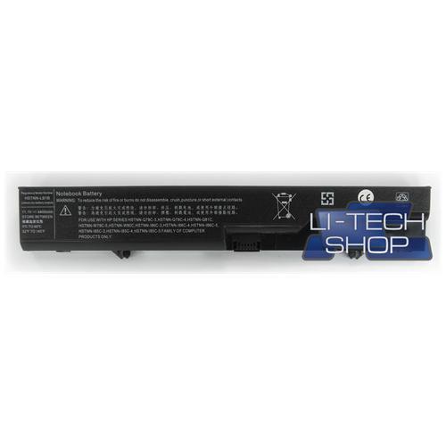 LI-TECH Batteria Notebook compatibile per HP COMPAQ HSTNN-I86C-4 6 celle 4400mAh nero 48Wh