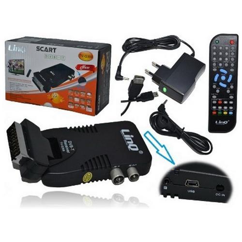 Linq Decoder Digitale Terrestre Linq Mod. Tv-g300 Dvb-t Mini Scart Tv + Usb