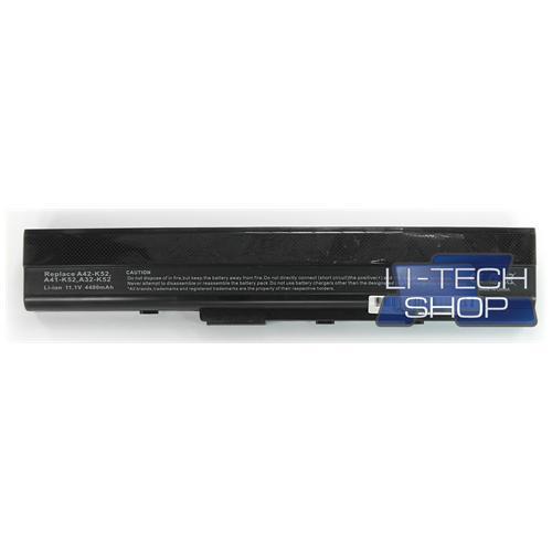LI-TECH Batteria Notebook compatibile per ASUS A52 6 celle 4400mAh nero pila
