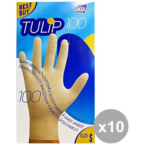 Tulip Set 10 Guanti X 100 Lattice S Tulip Giardinaggio