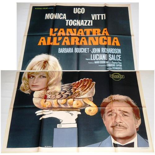 Vendilosubito Manifesto A4 Originale Del Film Anatra All' arancia Ugo Tognazzi Monica Vitti