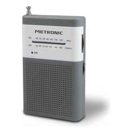 METRONIC 477215, 3,5 mm, Portatile, Analogico, Analogico, AM, FM, Batteria