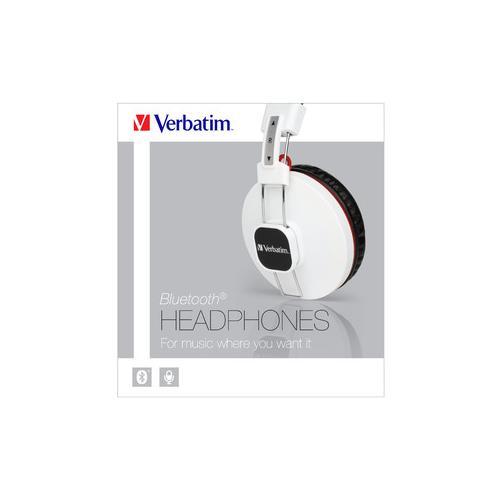 VERBATIM Cuffie Bluetooth con Microfono Colore Bianco