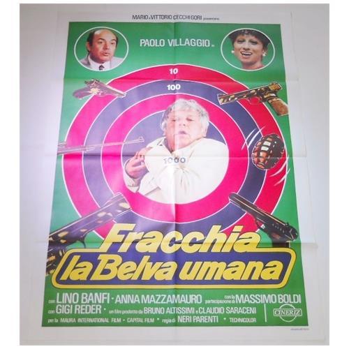 Vendilosubito Manifesto Originale Del Film Fracchia La Belva Umana