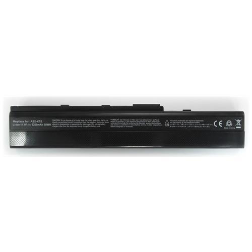 LI-TECH Batteria Notebook compatibile 5200mAh per ASUS X52FEX469V 10.8V 11.1V nero computer 5.2Ah