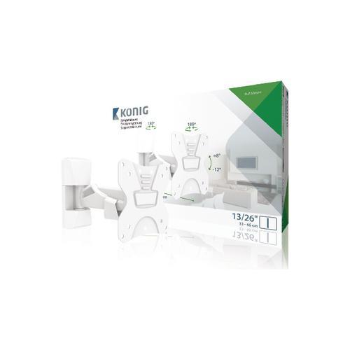 KÖNIG KNMA-SFM20W, 50 x 50,75 x 75,100 x 100 mm, Bianco, 0 - 15°, Scatola