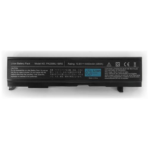 LI-TECH Batteria Notebook compatibile per TOSHIBA SATELLITE SA A100750 SA100750 6 celle nero 48Wh