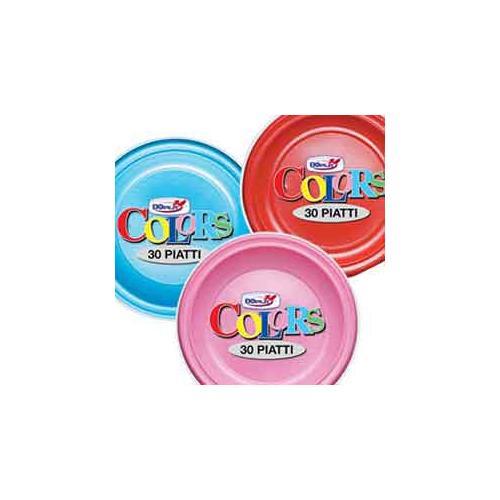 DOPLA 30 Piatti Fondi ø 22 cm Rosso - Linea Colors