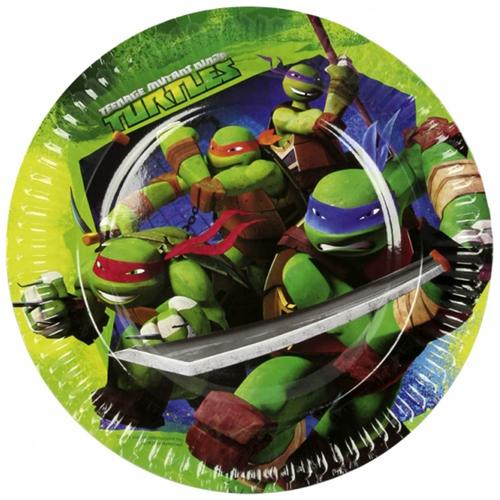 COMO GIOCHI Teenage Mutant Ninja Turtles - 8 Piatti 23 Cm