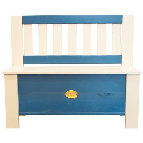 AXI Panca Contenitore Per Bambini Moby Blu E Bianco A031.041.00