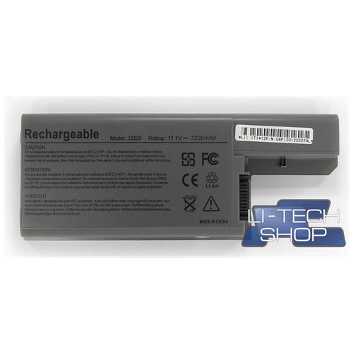 LI-TECH Batteria Notebook compatibile 9 celle per DELL 0CF623 6600mAh 6.6Ah