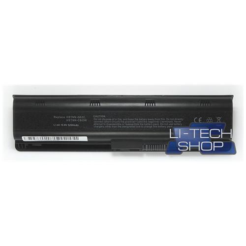 LI-TECH Batteria Notebook compatibile 5200mAh per HP PAVILION G62001SR nero pila 57Wh 5.2Ah