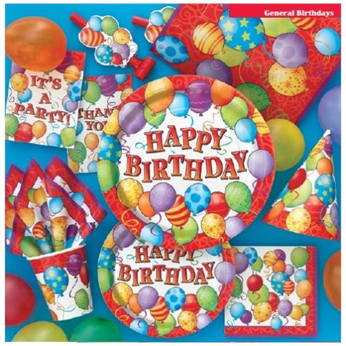 Ballon Express Unique Tovaglioli Happy Birthday Con Palloncini