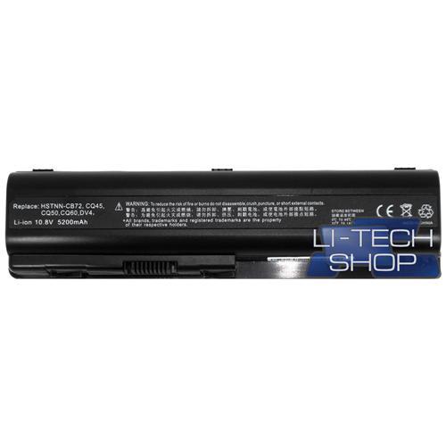 LI-TECH Batteria Notebook compatibile 5200mAh per HP COMPAQ PRESARIO CQ61-315EM 6 celle nero pila