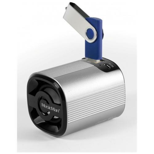 Technaxx Speaker Audio Portatile MusicMan Grenade BT-X4 Potenza Totale 3W Bluetooth Colore Argento