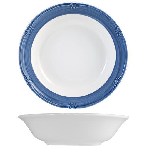 H&H Piatto Ceramica Siena Blue Fondo Cm21 Stoviglie