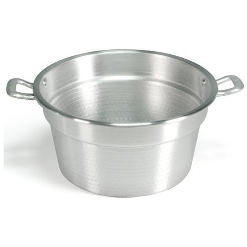 HOME Caldaia Alluminio Pesante Spazzolata Cm40 Pentole E Preparazione