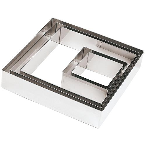 FIMEL Quadrato Inox Cm 18x18 H 4,5 Per Torte