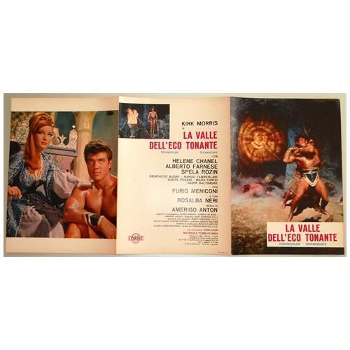 Vendilosubito Brochure 3 P. Originale Del Film La Valle Dell' eco Tonante 1964 Raro