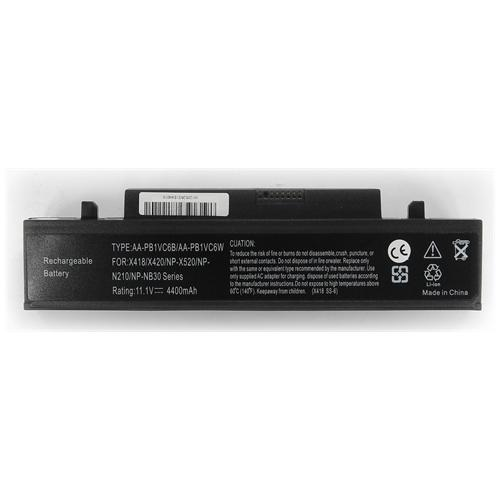LI-TECH Batteria Notebook compatibile per SAMSUNG NPX420-JA01-UK 10.8V 11.1V 6 celle 4400mAh nero