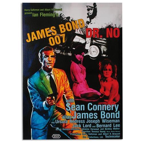 Homania Locandina Su Tela 50 X 70 Di James Bond 007 Dr. No