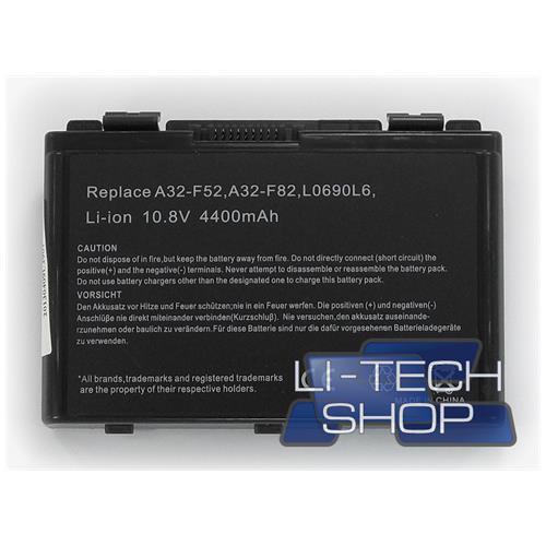 LI-TECH Batteria Notebook compatibile per ASUS K50INSX177X 6 celle nero 48Wh 4.4Ah