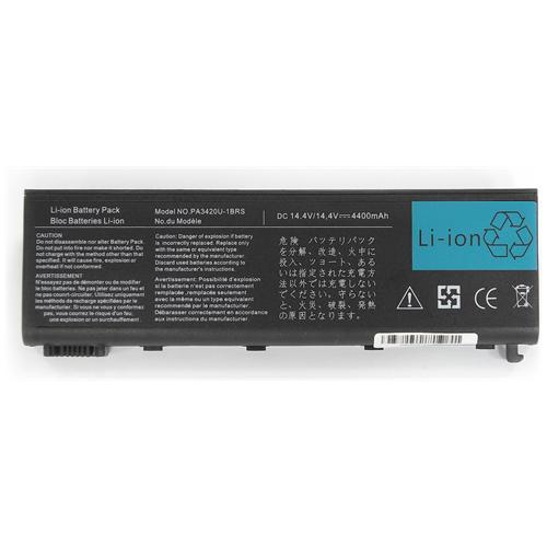 LI-TECH Batteria Notebook compatibile per TOSHIBA PABAS059 4400mAh nero pila 64Wh