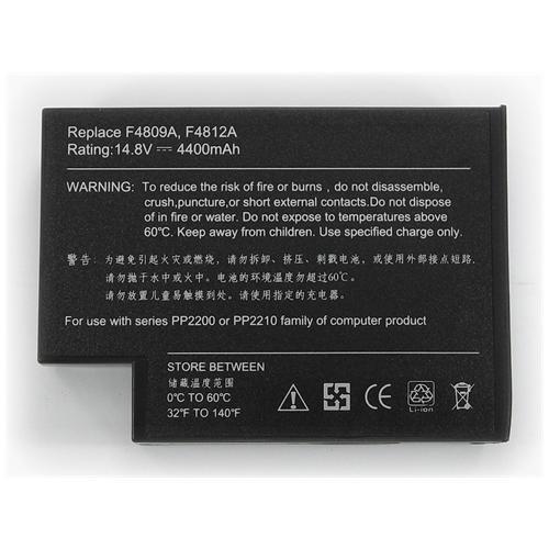 LI-TECH Batteria Notebook compatibile per HP OMNI BOOK XE4100 8 celle nero 64Wh 4.4Ah