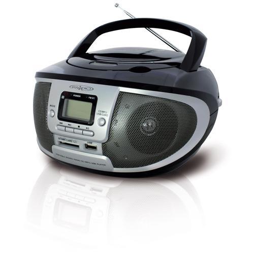 IRRADIO Cdku-55c ns radio CD-MP3 boombox con radio AM / FM e presa usb / sd colore nero - silver