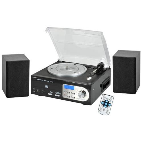 MAJESTIC Stereo Giradischi TT-38 Lettore CD / Cassetta / USB / Slot SD Supporto MP3 / WMA Sintonizzatore AM / FM RICONDIZIONATO