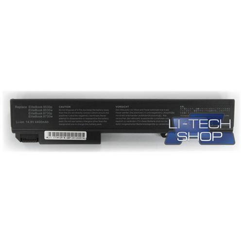LI-TECH Batteria Notebook compatibile per HP COMPAQ ELITEBOOK 8530P 8 celle nero 64Wh