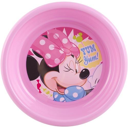 Home Set 6 Piatti Polipropilene Disney Minnie2 Fondo Cm16 Pappa Bimbi