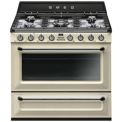 SMEG - Fornello da cucina TR90P9 Fuochi a Gas Dimensione 90 x 60 ...